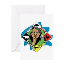 Native American Medicine Wheel Greeting Card