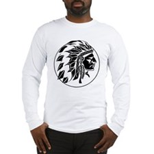 Indian Chief Head Long Sleeve T-Shirt