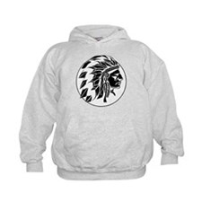 Indian Chief Head Hoodie