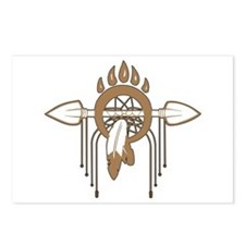 Brown Dreamcatcher Postcards (Package of 8)