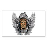 Indian Chief Wings Bumper Stickers
