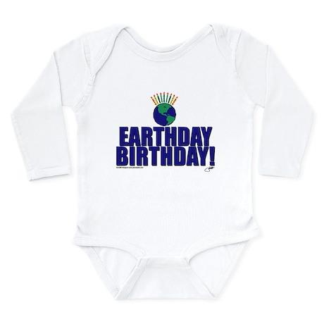 earthday_Birthday Long Sleeve Infant Bodysuit
