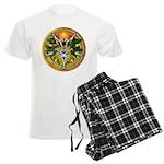 Litha/Summer Solstice Pentacl Men's Light Pajamas