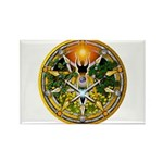 Litha/Summer Solstice Pentacl Rectangle Magnet (10
