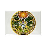 Litha/Summer Solstice Pentacl Rectangle Magnet