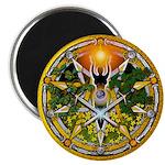 Litha/Summer Solstice Pentacl Magnet