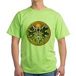 Litha/Summer Solstice Pentacl Green T-Shirt