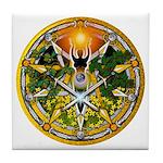 Litha/Summer Solstice Pentacl Tile Coaster