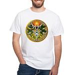 Litha/Summer Solstice Pentacl White T-Shirt