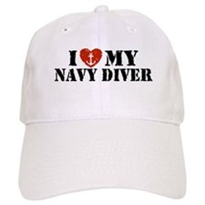 I Love My Navy Diver Baseball Cap