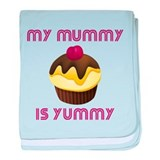 My Mummy Is Yummy baby blanket