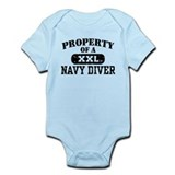 Property of a Navy Diver  Baby Onesie