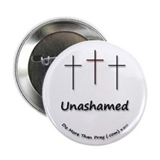 "2.25"" Button (100 pack) - 3 Crosses Unashamed"
