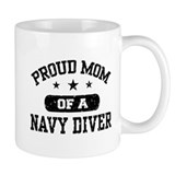 Proud Navy Diver Mom Mug