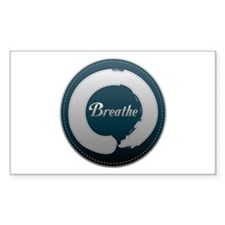 Breathe Enso Sticker (Rectangle)