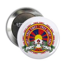 "Free Tibet Round Logo 2.25"" Button (10 pack)"