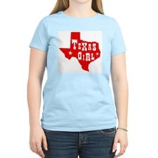 Texas Girl Women's Pink T-Shirt