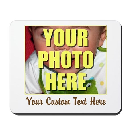 Custom Photo and Text Mousepad