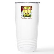 Custom Photo and Text Travel Mug