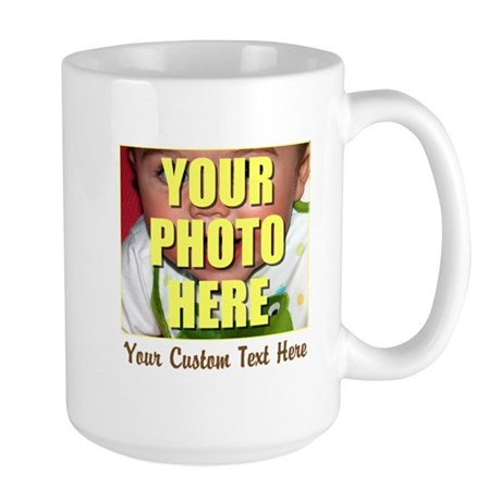 Custom Photo and Text Large Mug