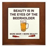 Behold the beer Framed Tile