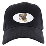 Pug Portrait Black Cap