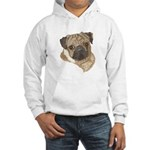 Pug Portrait Hooded Sweatshirt