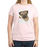 Pug Portrait Women's Pink T-Shirt