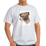 Pug Portrait Ash Grey T-Shirt