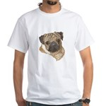 Pug Portrait White T-Shirt