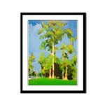 Big Tree in The Park Framed Panel Print