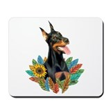 Leaves2-Doberman Pinscher Mousepad