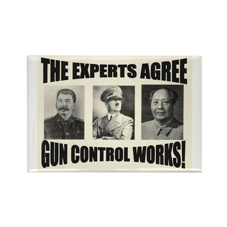 The Experts Agree Gun Control Rectangle Magnet