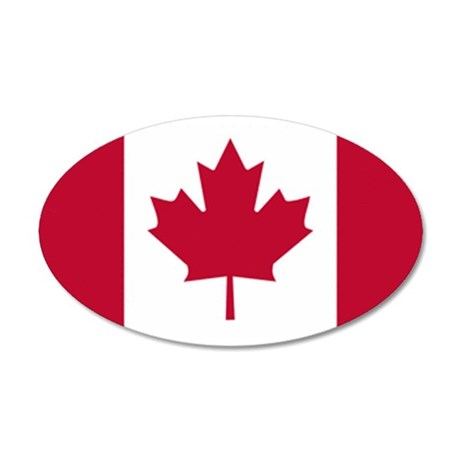 Canadian Flag 22x14 Oval Wall Peel