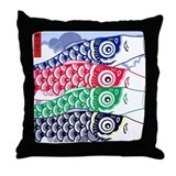 Koi Waves Throw Pillow