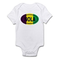 TriColor NOLA Euro/Black Infant Creeper