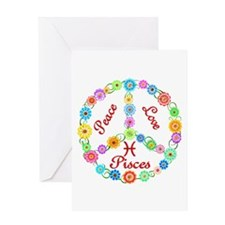Peace Love Pisces Greeting Card