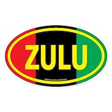Zulu / Garvey Euro/Yellow Oval Decal