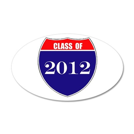 Class of 2012 38.5 x 24.5 Oval Wall Peel