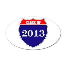 Class of 2013 38.5 x 24.5 Oval Wall Peel