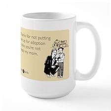 Up For Adoption Large Mug