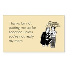 Up For Adoption Sticker (Rectangle)