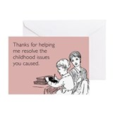 Childhood Issues Greeting Card