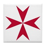 Cross of Malta Tile Coaster
