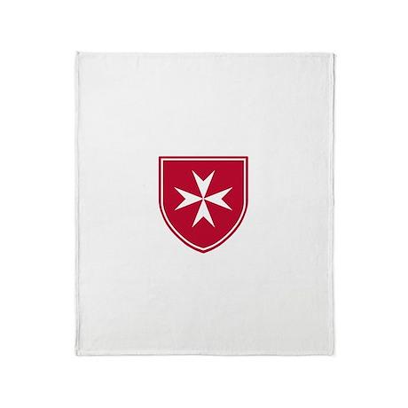 Cross of Malta Throw Blanket