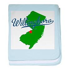 Willingboro, NJ - gray baby blanket