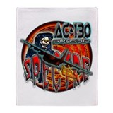 USAF AC-130 Spectre Gunship Throw Blanket