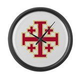 Cross Potent Large Wall Clock