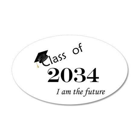 Born in 2012/College Class of 2034 22x14 Oval Wall