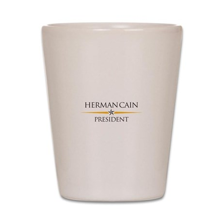 Herman Cain 2012 Shot Glass